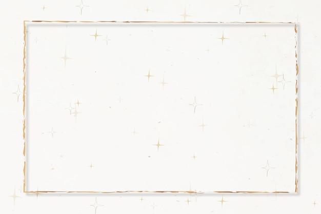 Gouden frame feestelijke effen witte achtergrond