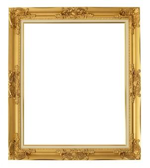 Gouden frame met uitknippad.