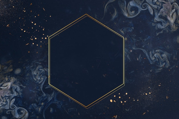 Gouden frame op blauwe achtergrond