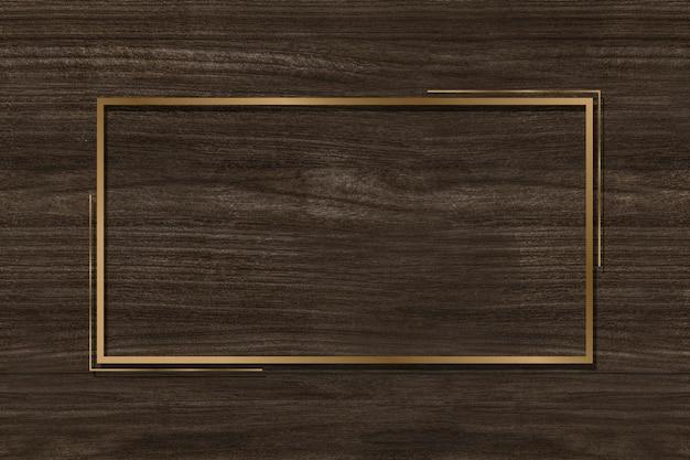 Gouden frame op een bruine achtergrond