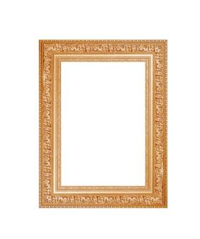 Gouden frame op wit
