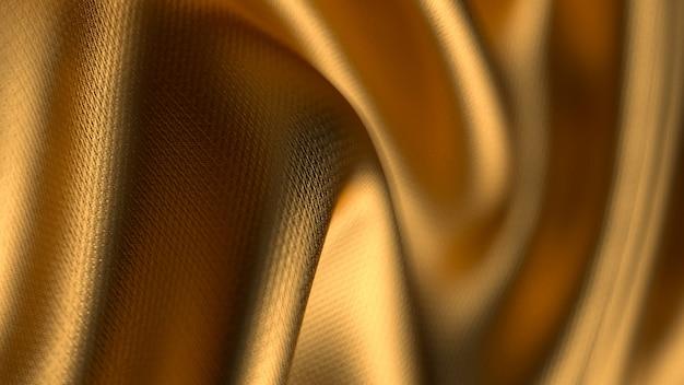 Gouden gedraaide stof met ondiepe scherptediepte