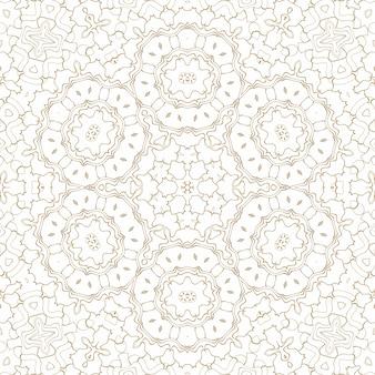Gouden geometrische abstracte achtergrond op wit. patroon voor decoratie en ontwerp, symmetrisch patroon van gouden kleur