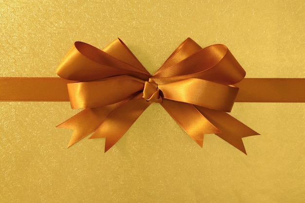Gouden geschenk boeg en lint