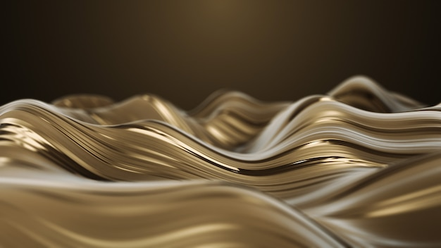 Gouden glamour karamel abstract