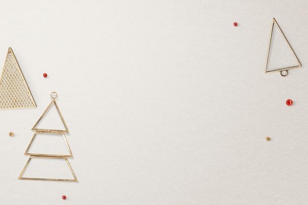 Gouden kerst sociale media banner achtergrond met ontwerpruimte