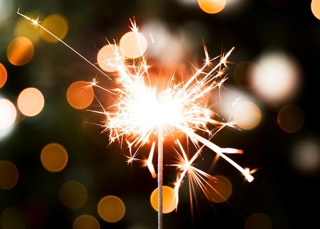 Gouden kerstmis bengaals licht