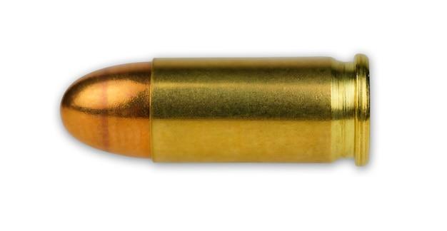 Gouden kogels geïsoleerd op witte achtergrond