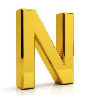Gouden letter n