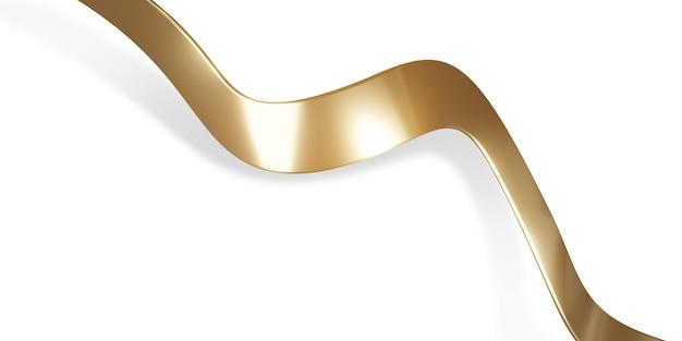 Gouden lint op witte achtergrond 3d illustratie