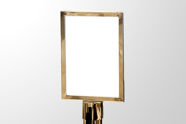 Gouden luxe bord voor evenementen