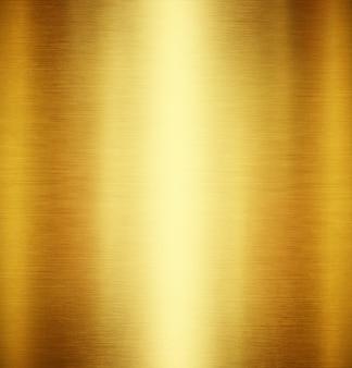 Gouden metalen achtergrond met gepolijste, geborstelde textuur voor ontwerp