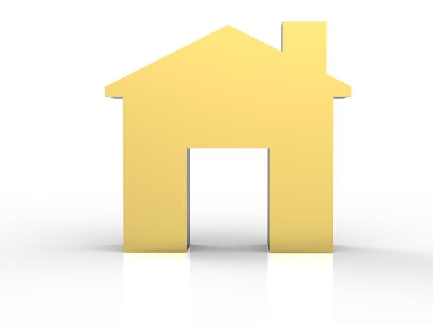 Gouden mock-up huis of gouden huismodel