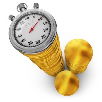 Gouden munten en een stopwatch