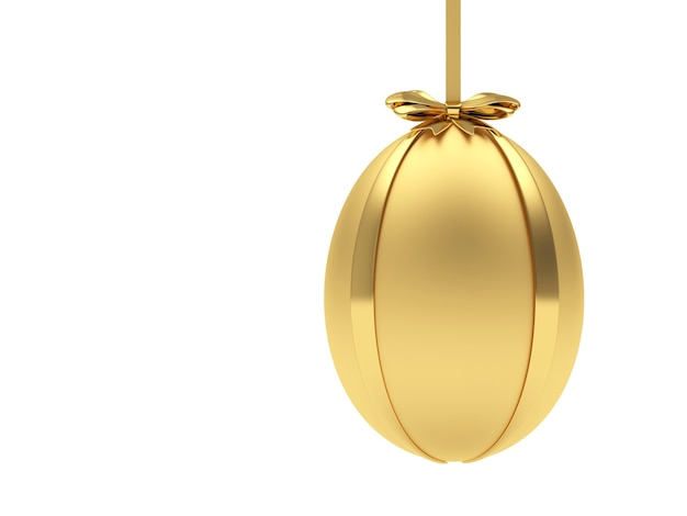 Gouden paasei opknoping van een lint