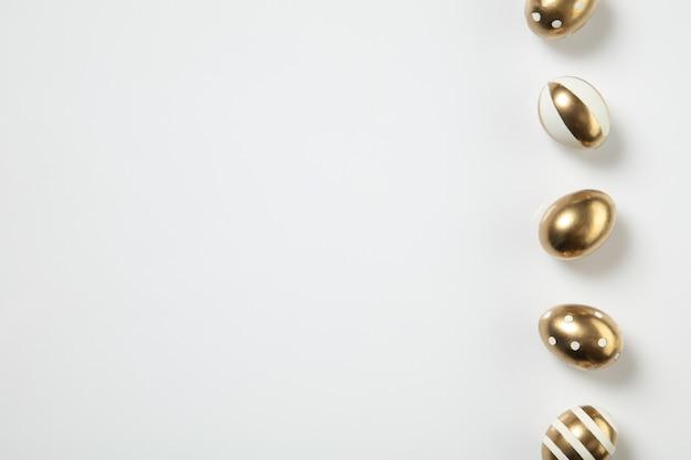 Gouden paaseieren bovenaanzicht