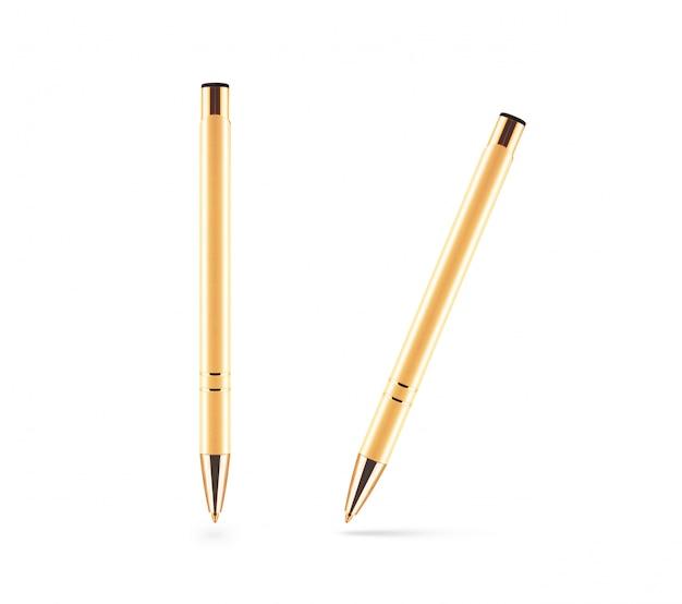 Gouden pen geïsoleerd