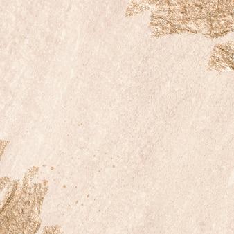 Gouden penseelstreek op textuur achtergrond afbeelding