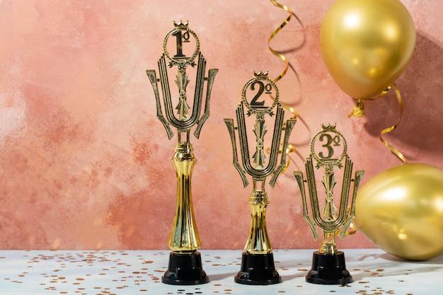 Gouden prijzen winnaar concept