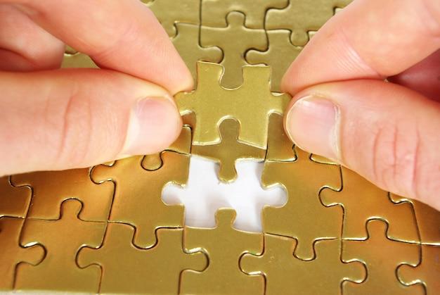 Gouden puzzel oplossen