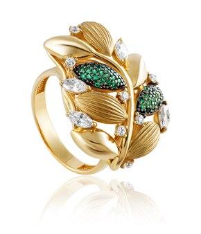Gouden ring met edelstenen