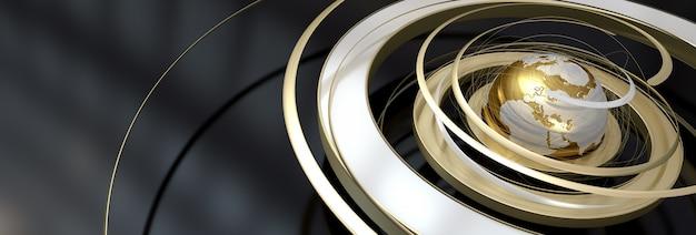 Gouden rotatie op zwart