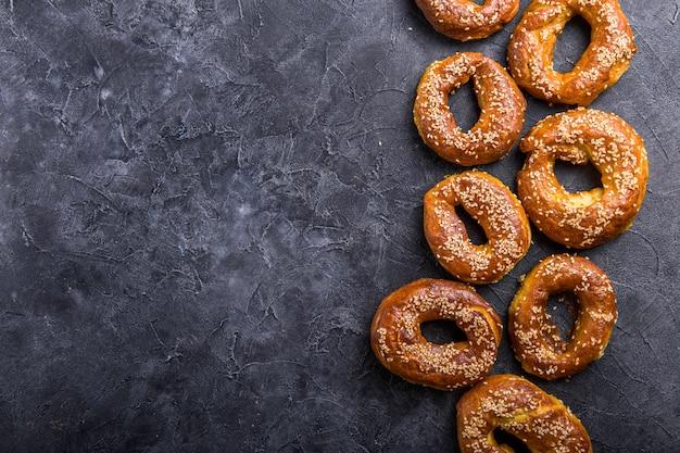 Gouden sesam bagels