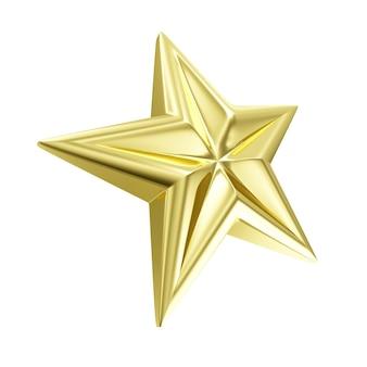 Gouden ster symbool geïsoleerd op een witte achtergrond
