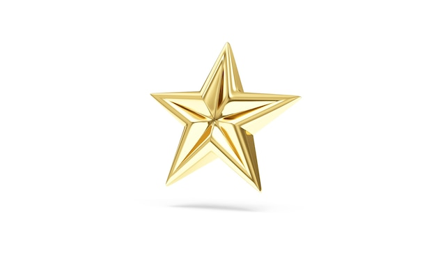 Gouden ster symbool geïsoleerd op wit