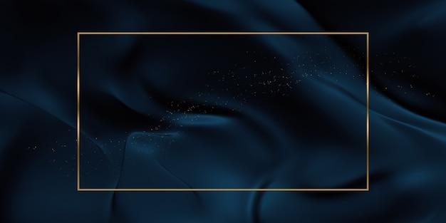 Gouden tekst frame textuur achtergrond glanzende strepen 3d illustratie