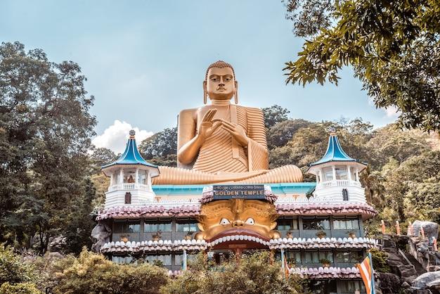 Gouden tempel in dambulla sri lanka.