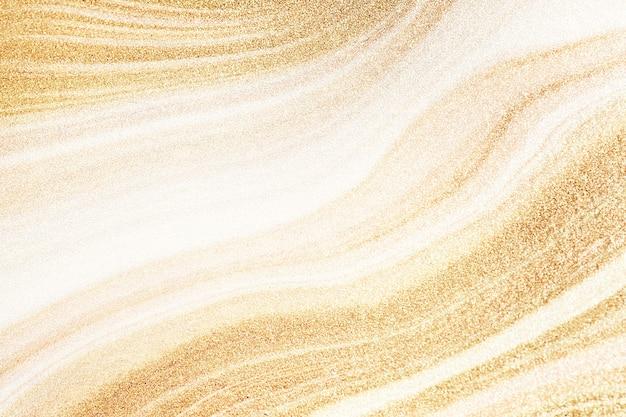 Gouden vloeistof getextureerde achtergrond afbeelding