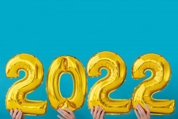 Goudfolie nummer 2022 viering