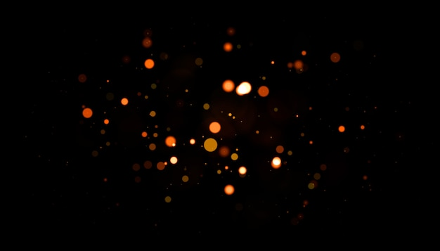 Goudkleurige echt verlichte stofdeeltjes met echte lensflare