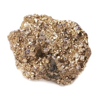 Goudklompje op dwazen goud op wit wordt geïsoleerd