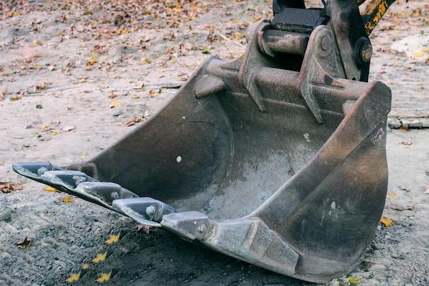 Graafmachine emmer close-up