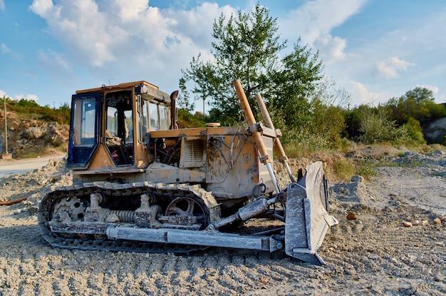 Graafmachine grond nivellering en bouw industrie