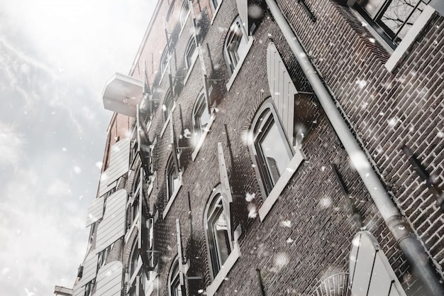 Grachtenhuis in amsterdam
