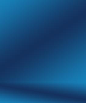 Gradiënt blauwe abstracte achtergrond. glad donkerblauw met zwart vignet studio