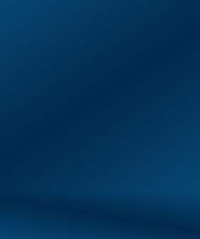Gradiënt blauwe abstracte achtergrond. glad donkerblauw met zwart vignet studio.