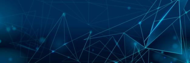 Gradiënt donkerblauwe futuristische digitale rasterachtergrond