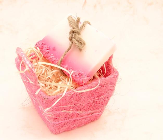 Gradiënt roze zeep