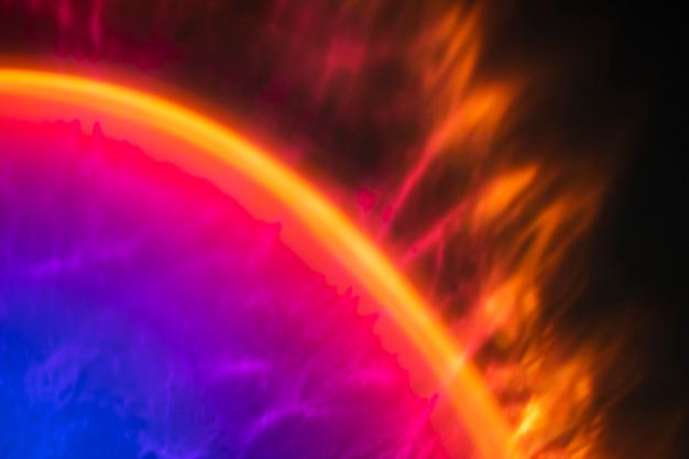 Gradiëntachtergrond met kleurrijk lichteffect
