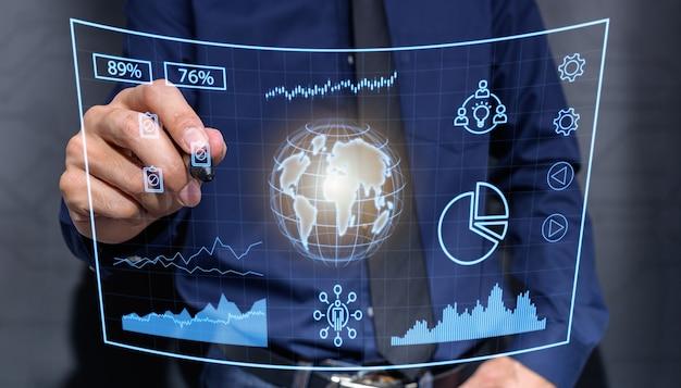 Grafiek investeerders voorraad zakelijke wereldeconomie illustratie. beurs