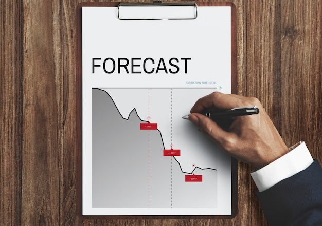 Grafiek zakelijk financieel investeringsrisico woord
