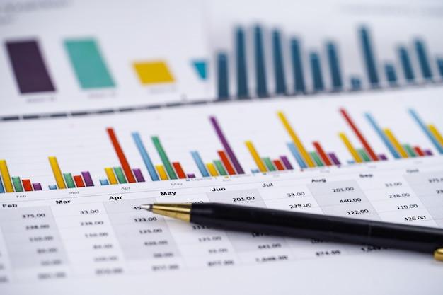 Grafieken grafieken spreadsheet papier