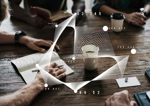 Grafiekgegevens tonen samenvatting analyse pictogram afbeelding