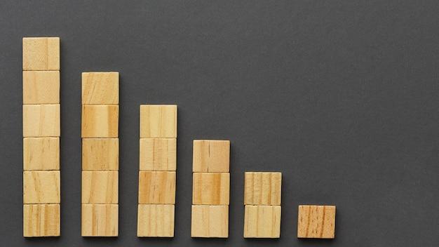 Grafisch concept met houten blokken