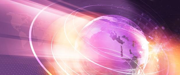 Grafisch digitaal de bannerconcept van het wereldnieuws