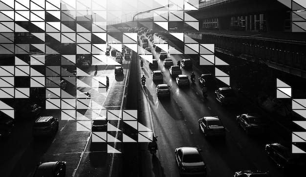 Grafisch ontwerp met abstracte kunstgeometrie